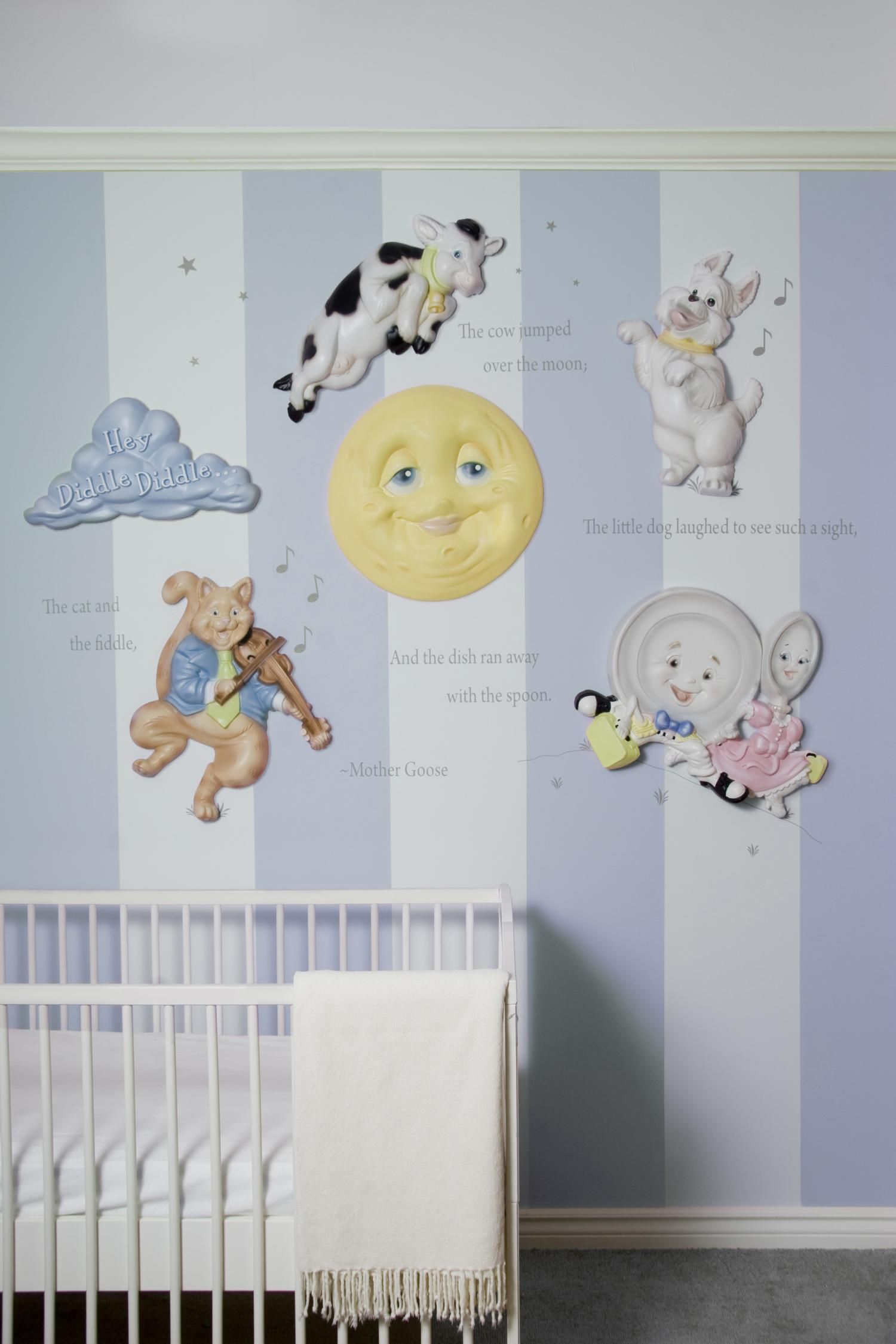 Mother goose nursery rhymes 3d wall art decor by beetling design php grandkids pinterest - Baby jungenzimmer ...