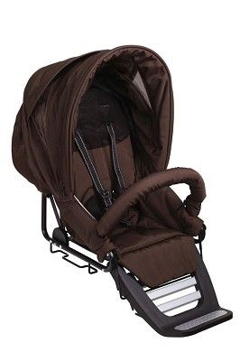 Closeout!! Teutonia Stroller Seat With T-textile Kit In Jasper Brown