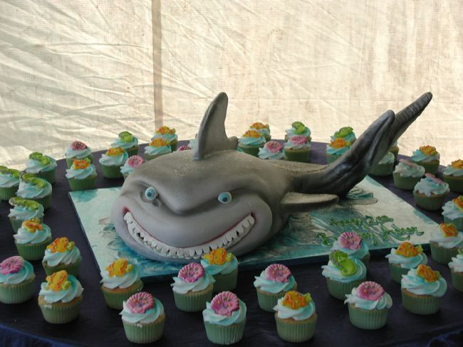 Shark Cake Looks Kind Of Like Bruce From Finding Nemo