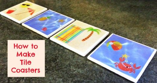 how to make your own custom tile coaster with scrapbook paper how