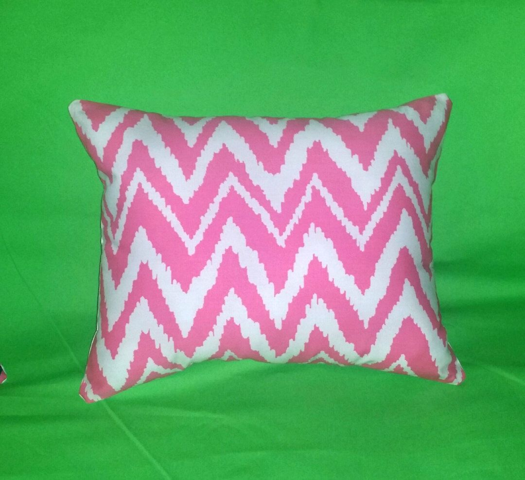 New Pillow made with Lilly Pulitzer Get Your Chev On Hotty Pink