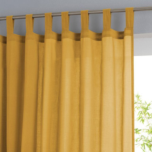 Single Cotton Voile Panel With Tab Top Curtains Voile