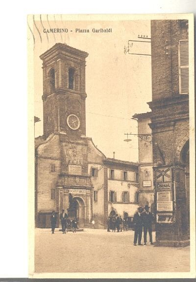 Camerino, piazza Garibaldi, 1921.