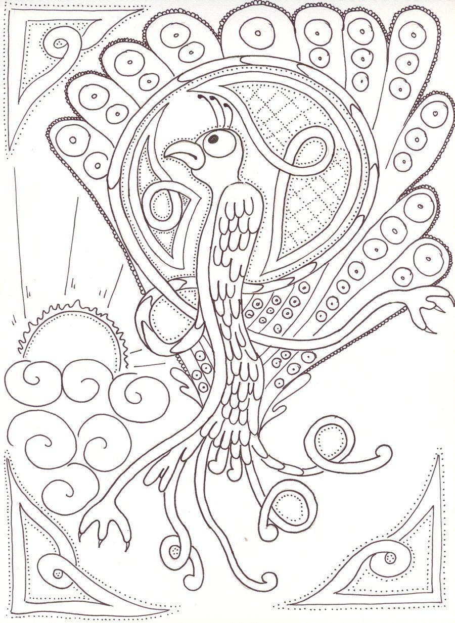Celtic Peacock by sozocreation.deviantart.com on @deviantART