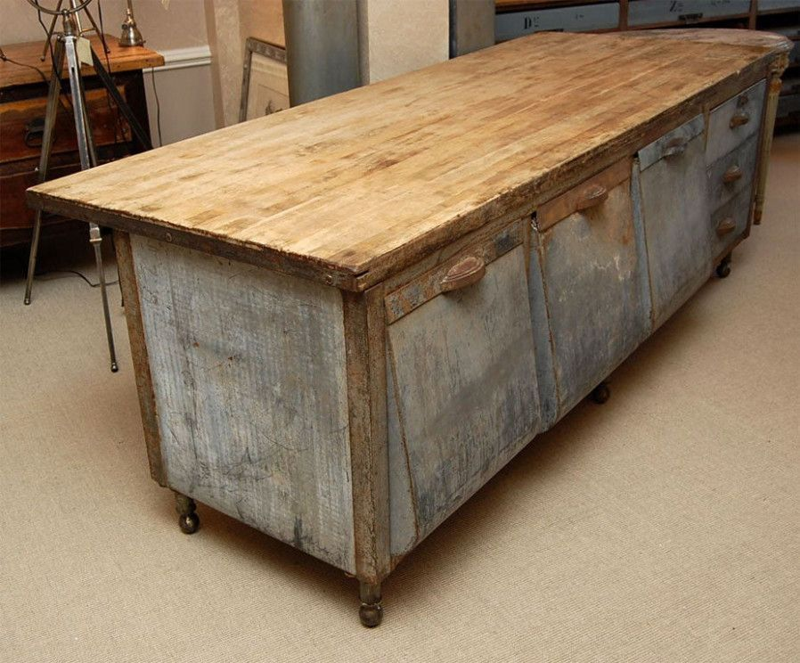Galvanized Kitchen Table Top In 2020 Barn Kitchen