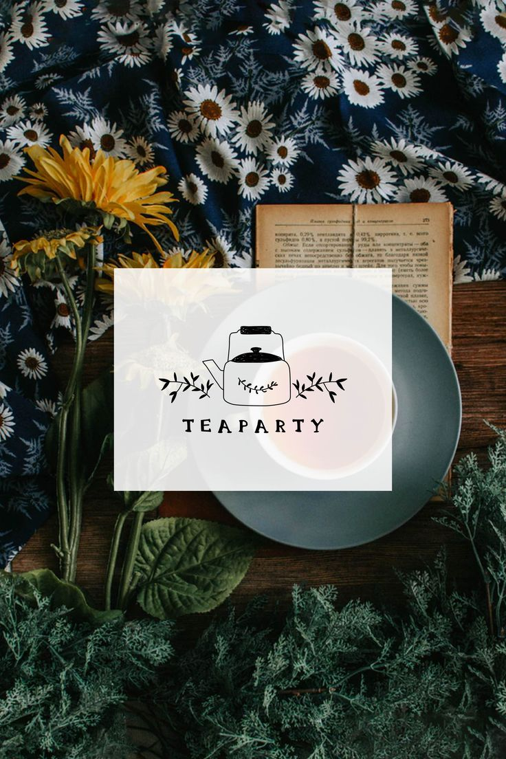 Tea Logo Design Teapot Boutique Photography Graphic Tea