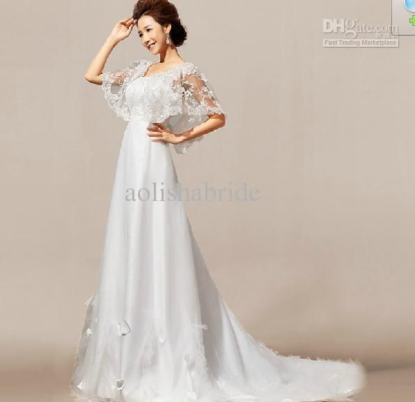 Wholesale Wedding Dresses 2013 A Line Strapless lace Applique floor length charming M1843, Free shipping, $184.8-207.2/Piece | DHgate