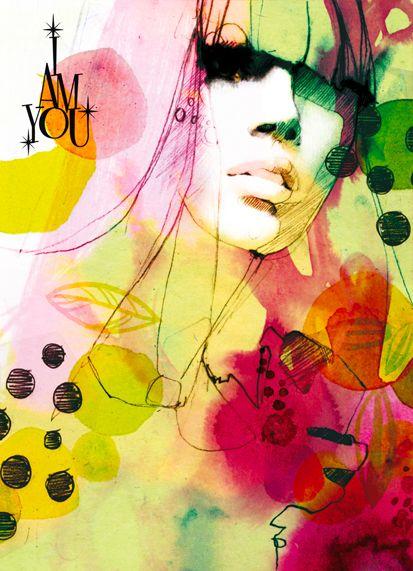 """I Am You"" series posters by Ekaterina Koroleva."