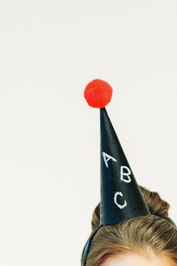 DIY Chalkboard Party Hats (+ 4 More Chalkboard Look-alikes)