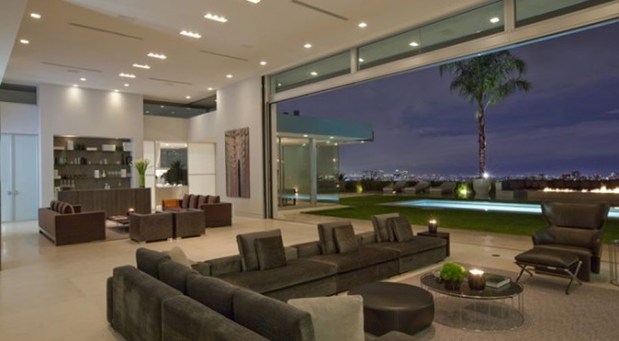 Contemporary And Elegant Living Room Interior Design Of Beverly Hills House  By McClean Design, Los Angeles