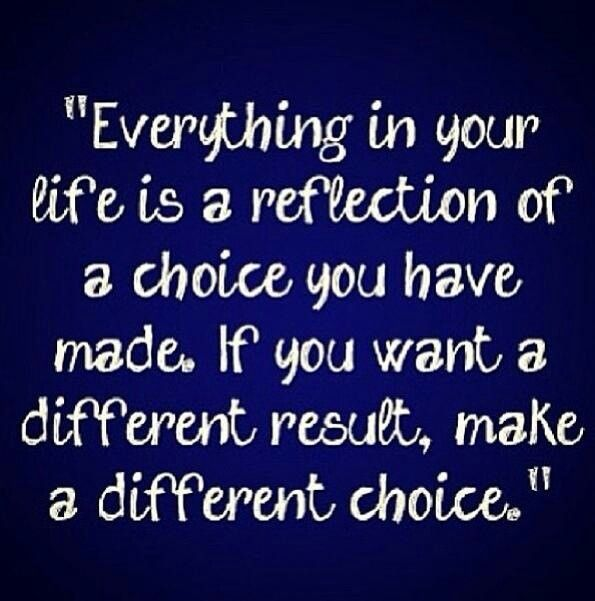 Everyone Has A Choice In Everything They Do Nobody Can Force You
