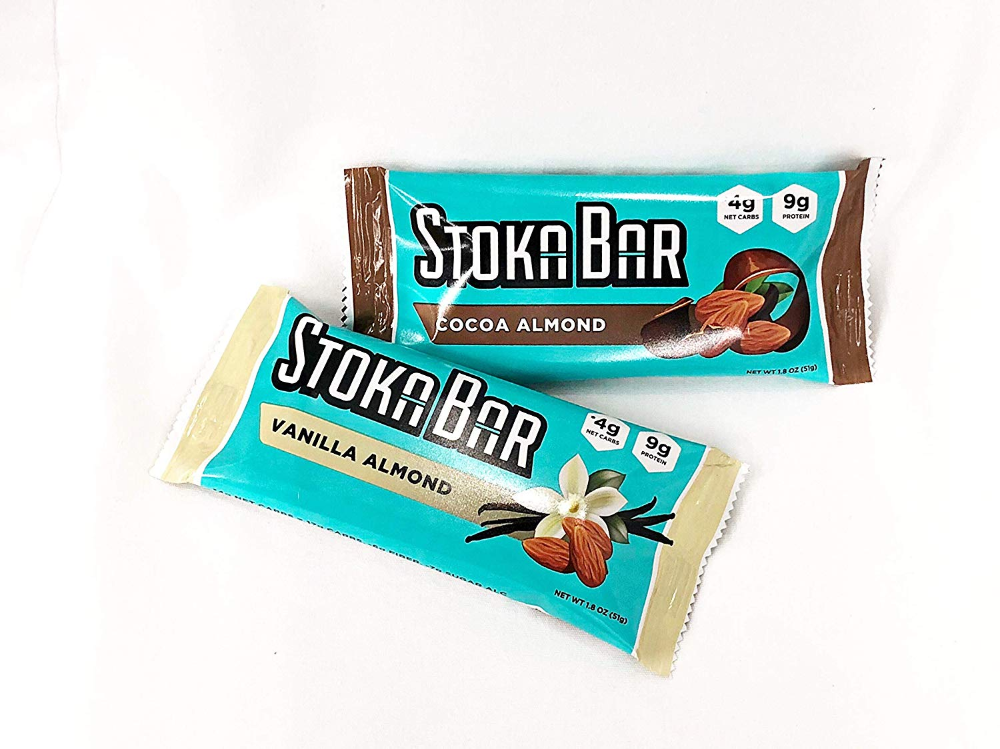 Amazon Com Stoka Bars Vanilla Almond And Cocoa Almond All Natural Low Carb Energy Bar 4g Net Carbs 9g Protein Flavor Variety Energy Bars Low Carb Bars