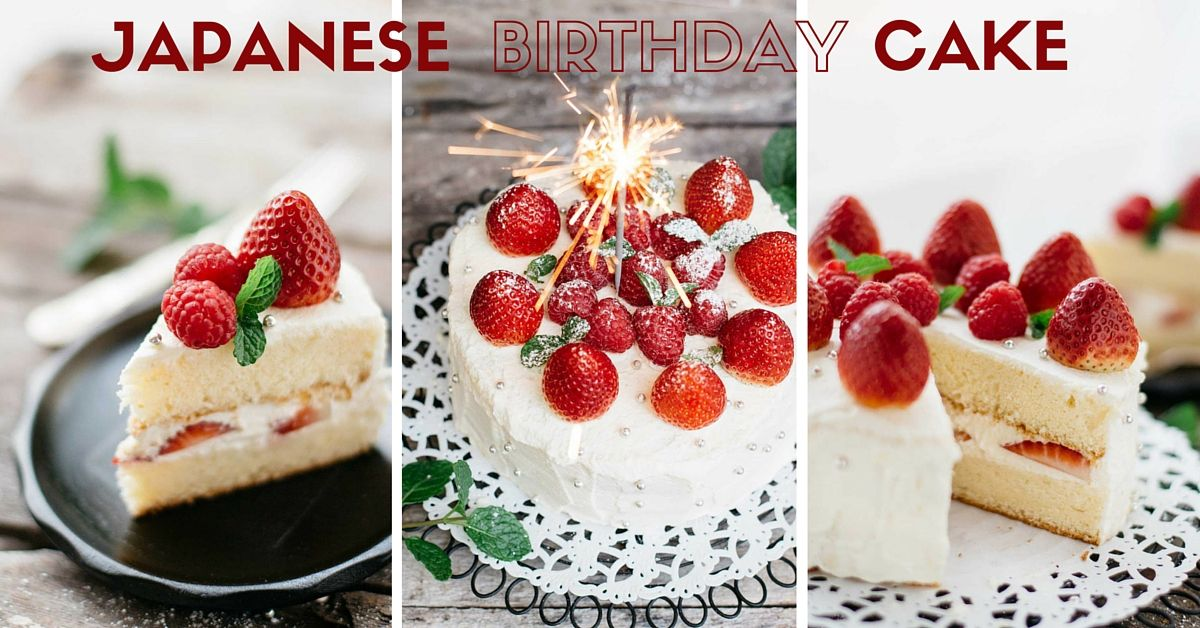 Admirable Delicious Japanese Birthday Cake Made From Sponge Cake With Personalised Birthday Cards Rectzonderlifede