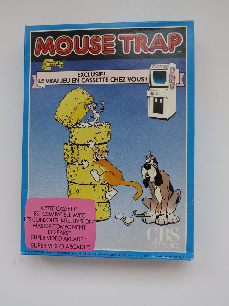 Mouse Trap Intellivision Game System Rare French Version Complete