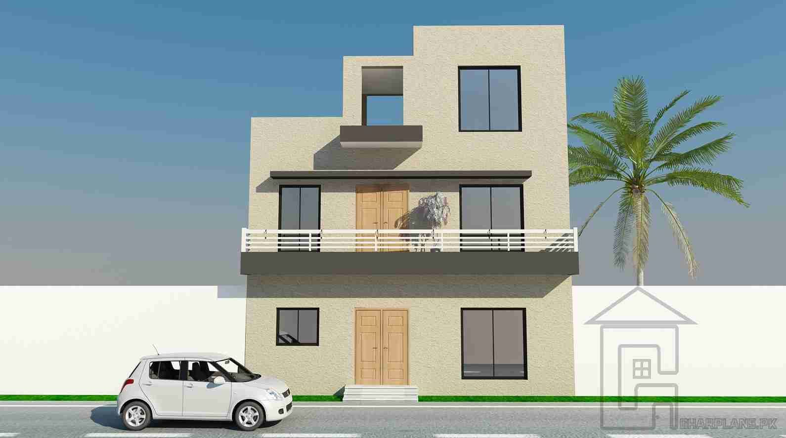 4 marla house map front elevation 4 marla house plan for 4 marla house front design