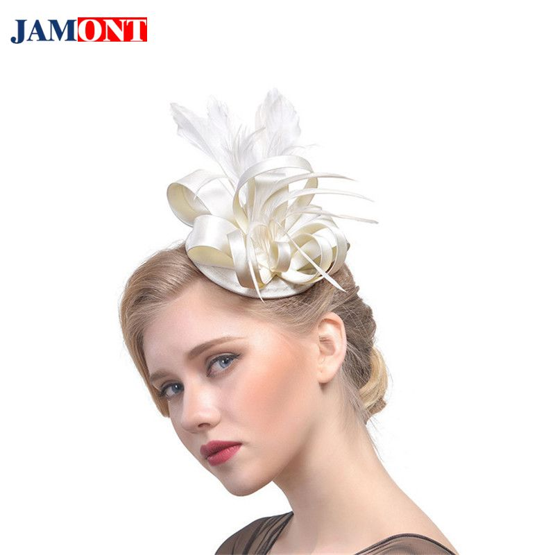 b8b4db7f17daa0 Women's Feather Hair Accessories Europe and America Hat Helmet Boutique  Party Bride High Quality Fine Headdress