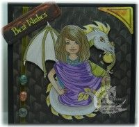 Tracys Inspirational-Dragon Tamer Digital Stamp #digitalstamps #coloringpages #fairies