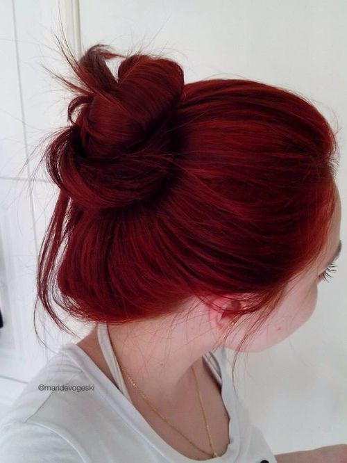 Fotografou Via Tumblr Hair Styles Red Hair Color Dark Red Hair Color