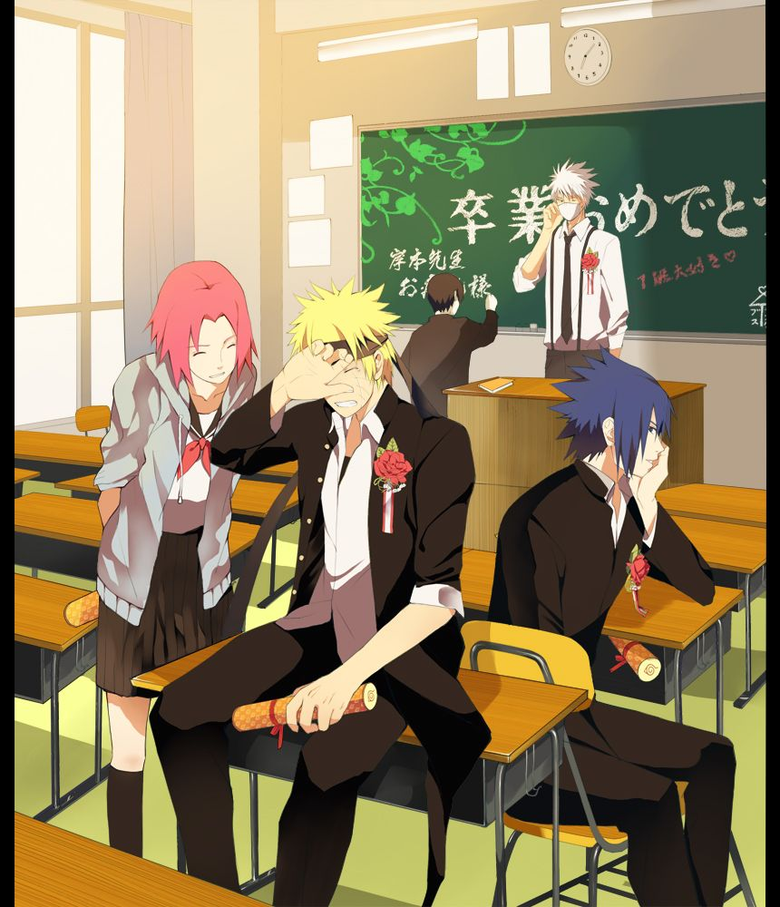 End of High School for Team Seven. Naruto Pinterest