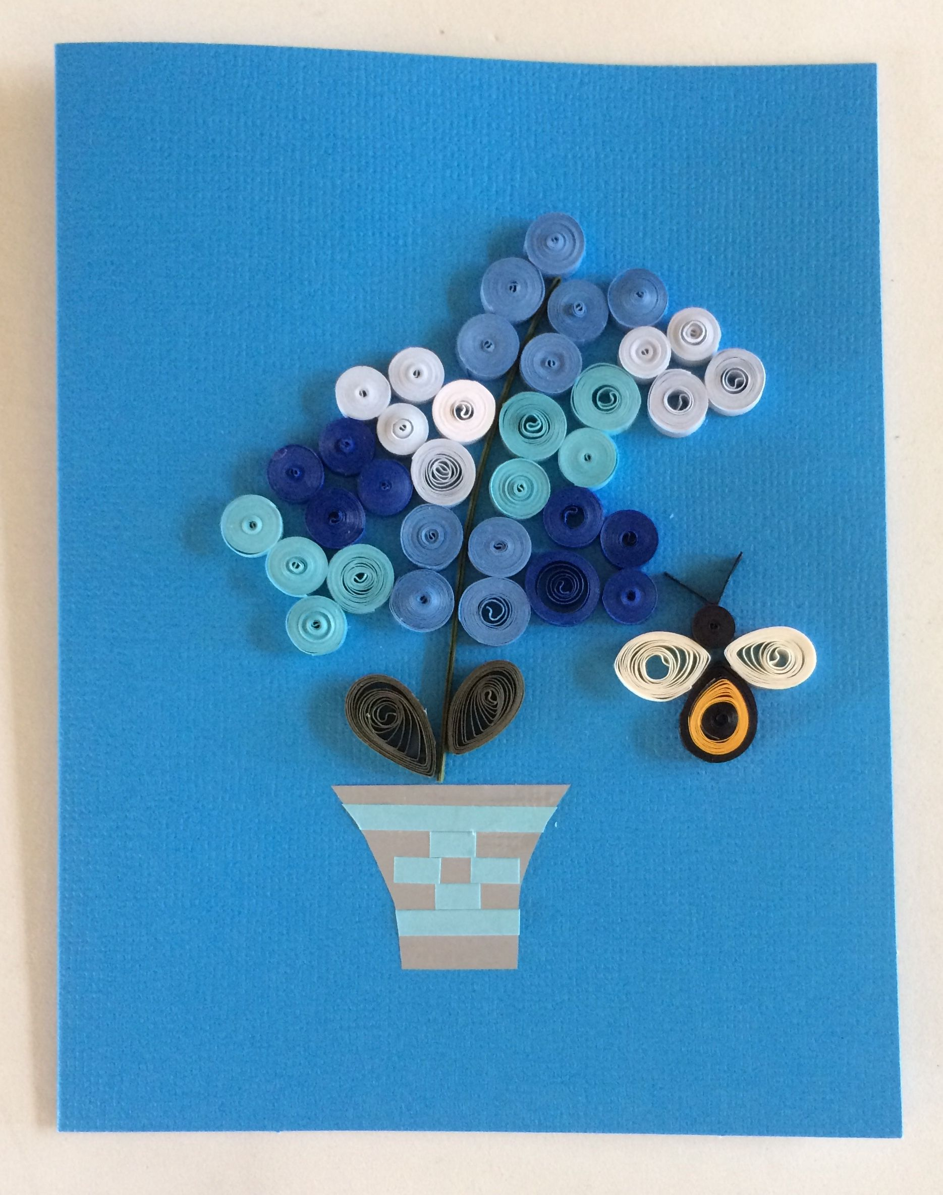 Blue hydrangeas handmade quilling greeting card my paintings blue hydrangeas handmade quilling greeting card kristyandbryce Images