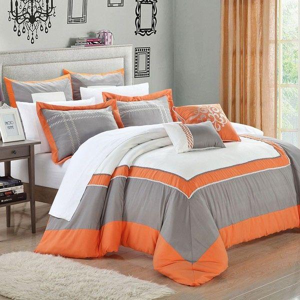 15387aa9120 Ballroom 7-pc. Comforter Set (Orange) ( 140) ❤ liked on Polyvore ...