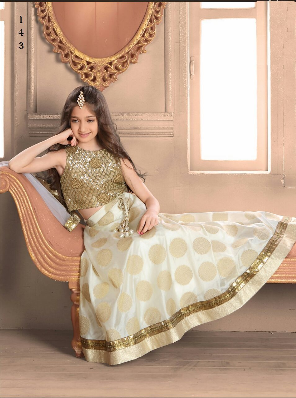 Indian wear girls kids lengha choli designer fancy for Indian wedding dresses for girls