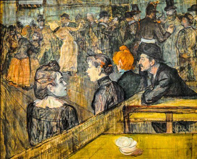 Risultati immagini per Henri de Toulouse-Lautrec Bal du Moulin de la Galette