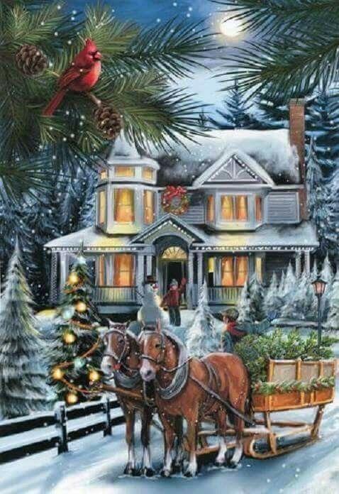 Hübsche Weihnachtsbilder.Pin By Karen F On Christmas Scenery Vintage Weihnachten