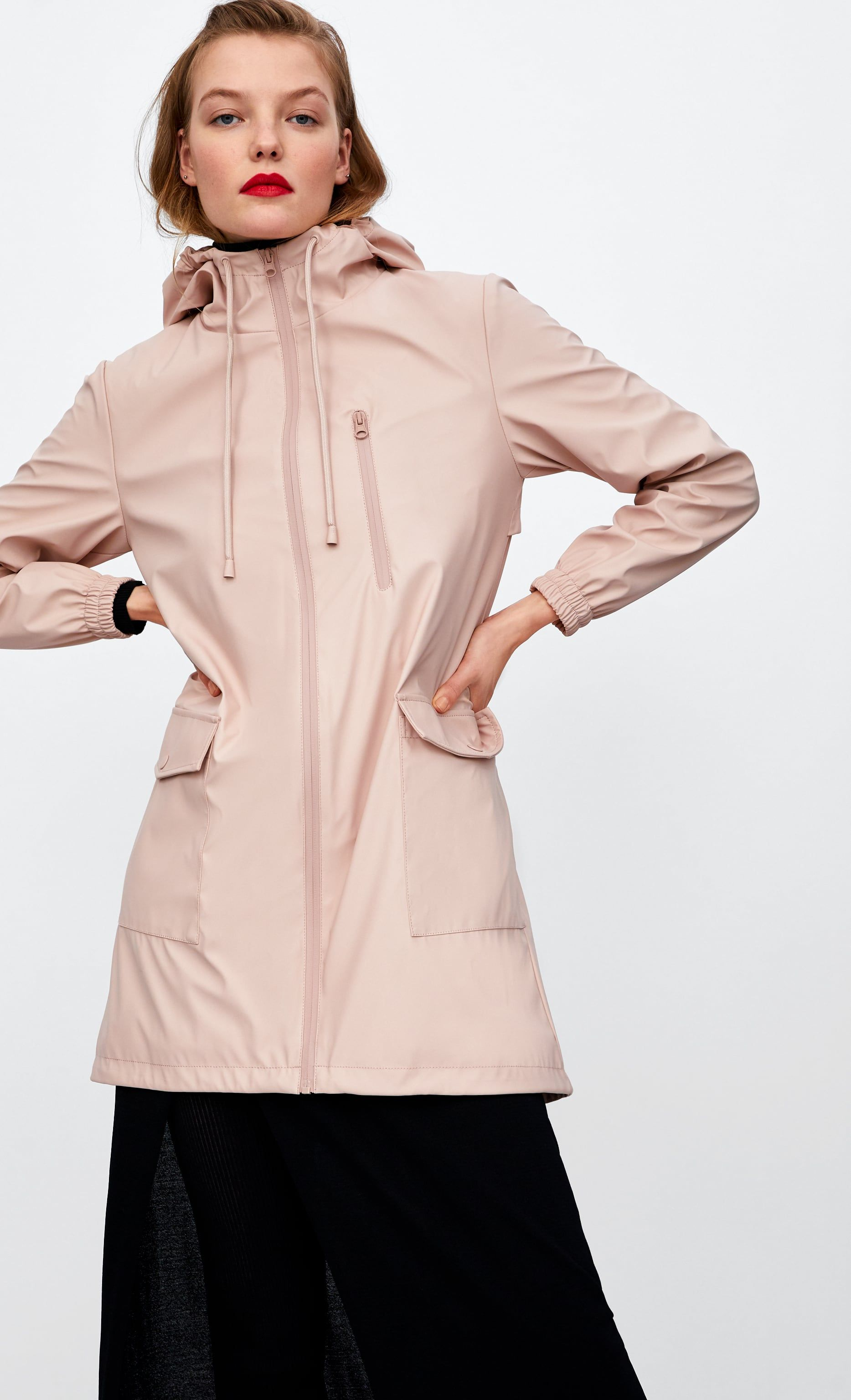 5c53e655 Image 2 of WATER REPELLENT RUBBERIZED PARKA from Zara ...