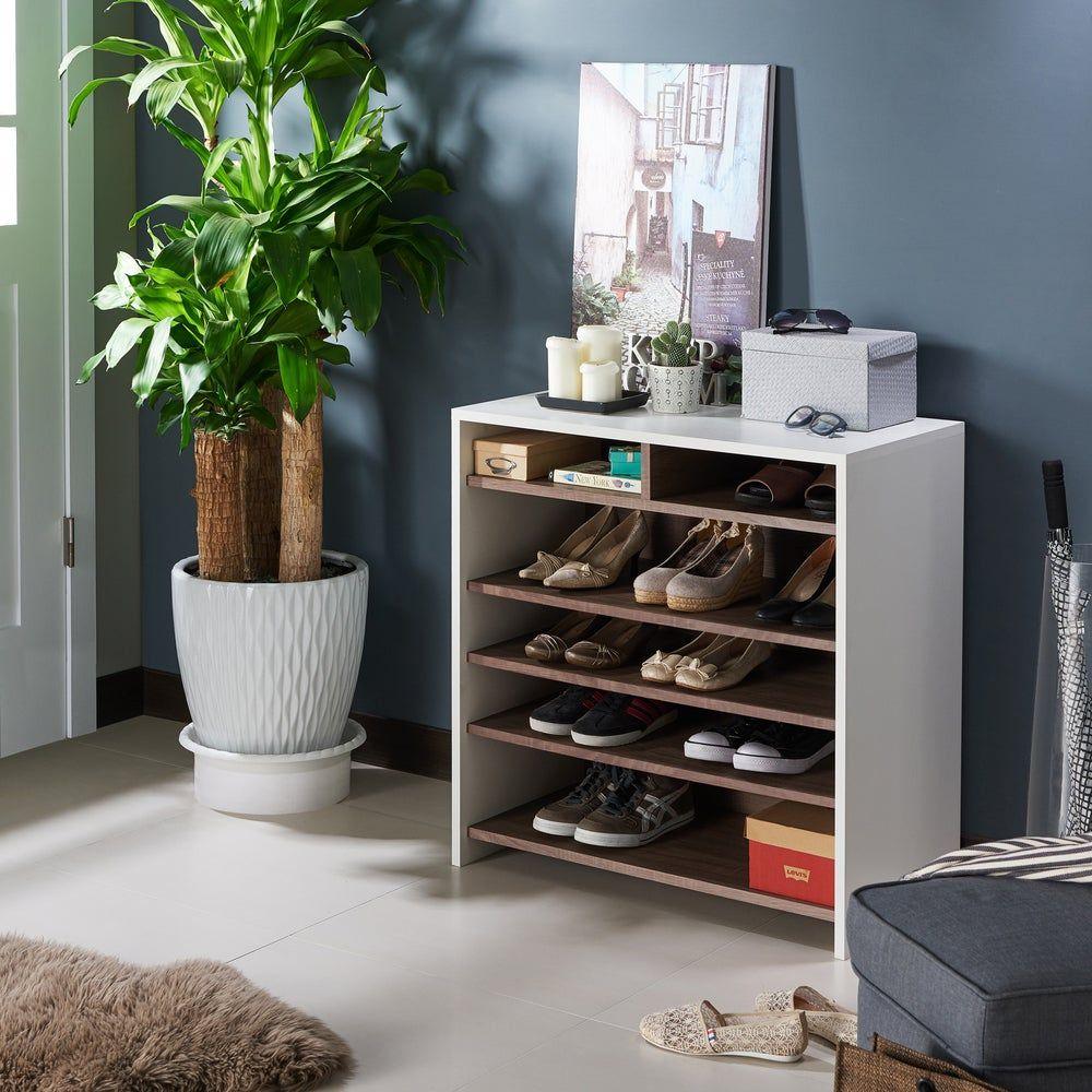 Best Furniture Of America Tosh Urban Brown 6 Shelf Shoe Cabinet 400 x 300