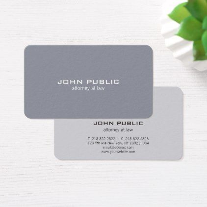 Attorney professional modern elegant grey lawyer business card attorney professional modern elegant grey lawyer business card lawyer business diy personalize custom reheart Gallery