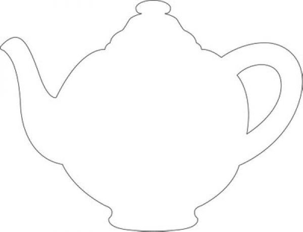 Teapot Template Printable Girls Tea Party Tea Party Crafts