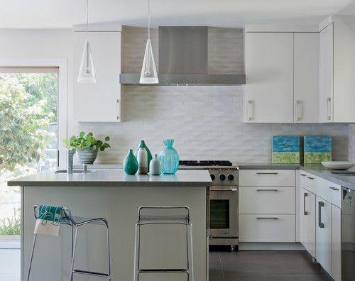 Please Advise Where The Tile Backsplash Is From Houzz Modern Kitchen Backsplash Kitchen Backsplash Designs Kitchen Design Modern Small