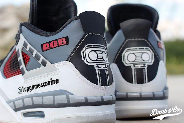 013150cef77 Nintendo R.O.B. the Robot custom Air Jordans  videogames