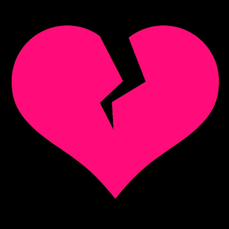 Broken Heart Silhouette Shape Icon Heart Icons Broken Heart Vector Illustration