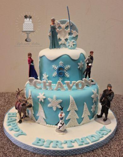 6 Frozen Cake Toppers Figures Disney Elsa Anna Olaf Sven Kristoff