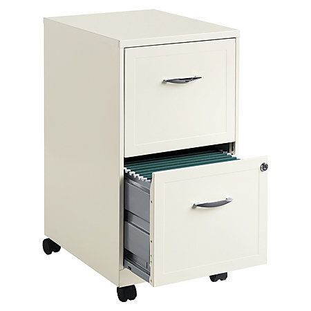 Realspace 174 18 Quot D 2 Drawer Metal Mobile Vertical File