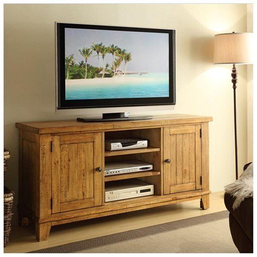Riverside Furniture Summerhill TV Console Canby Rustic Pine