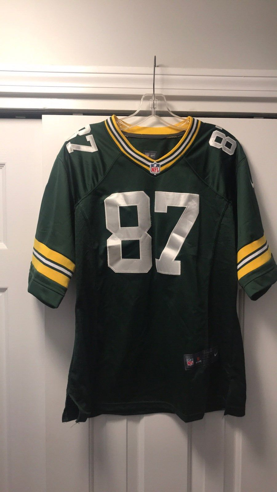 High Quality Authentic Nike Sewn Stitched Numbers And Letters Green Bay Packers Jordy Nelson Youth Size Xl Nike Nfl Jordy Nelson Nfl