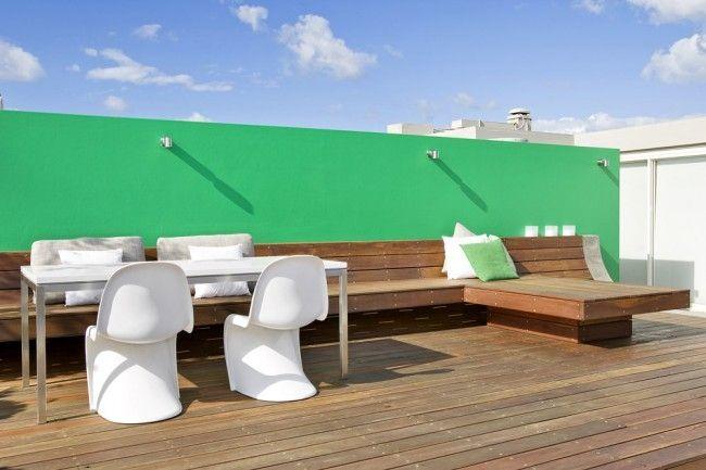 Terrassen » Moderne Dachterrasse Bietet Mehrere Unterhaltungsmöglichkeiten  An #bietet #dachterrasse #mehrere #moderne