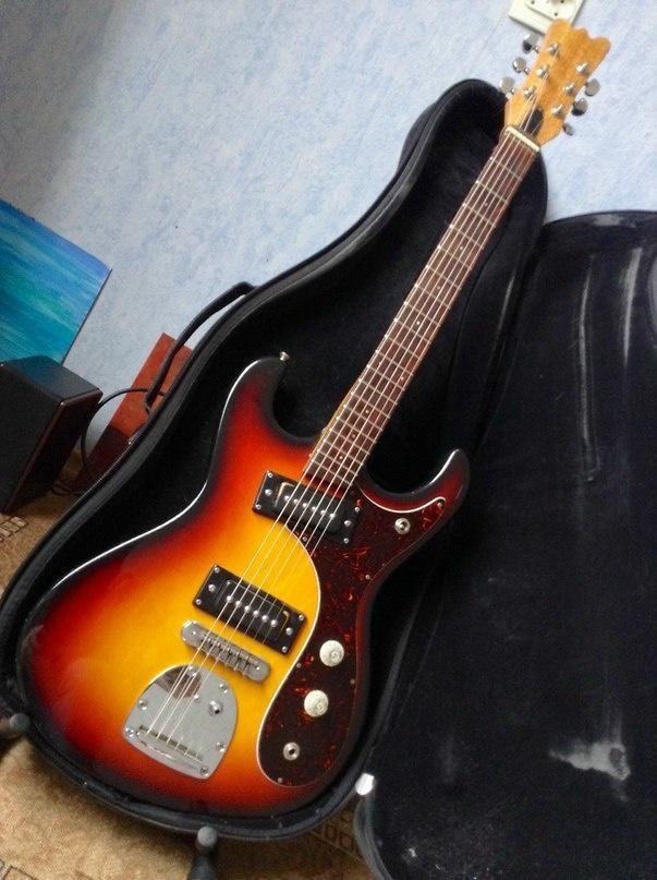 Guyatone Hi-Flier 1970s 3 Tone Sunburst