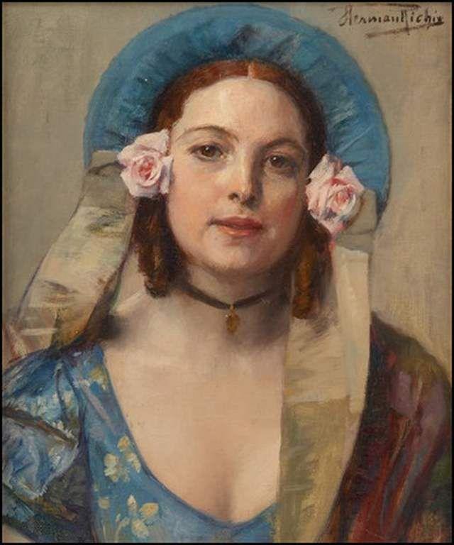 Femmes à chapeau par les grands peintres (269)
