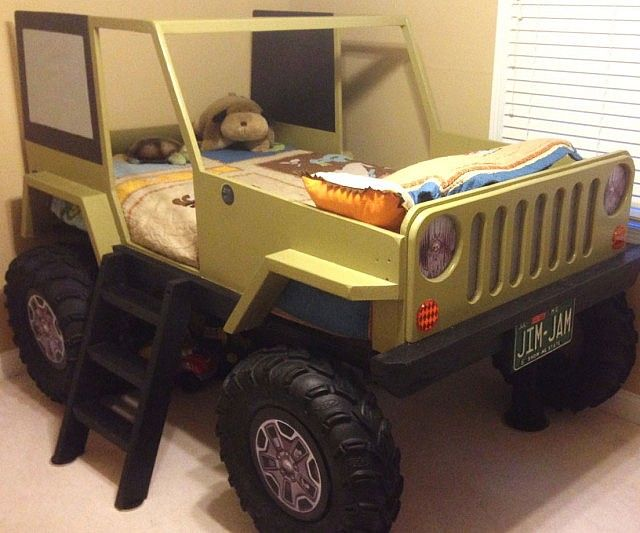 Jeep Wrangler Bed Template Make Your Young Jeep Bed Diy Kids