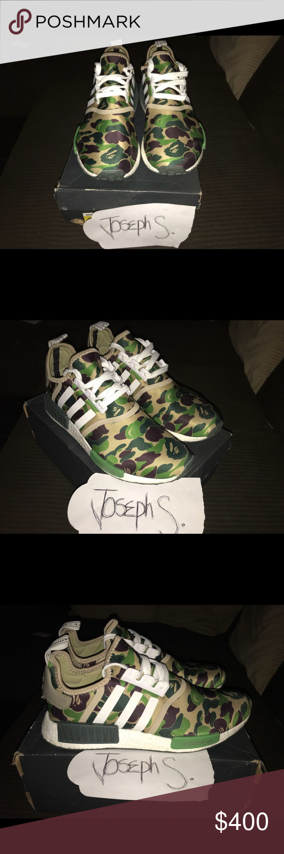 8be27ecdf Bape X Adidas NMD Text me with offers and can sell outside of Poshmark  7one9 3zero8 0zero6three Bape Shoes Athletic Shoes