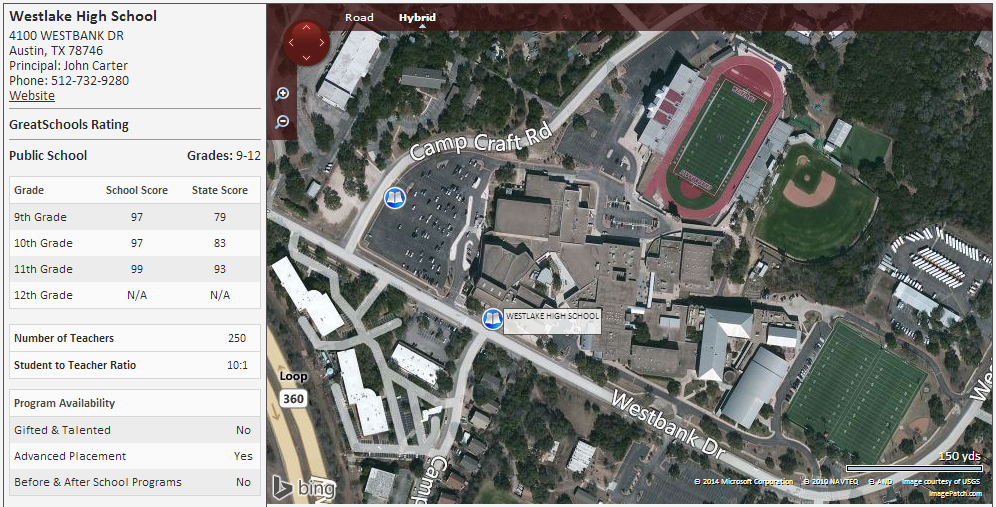 Map Of Texas High Schools.Homes Near Westlake High School In Austin Texas Home Finders Of
