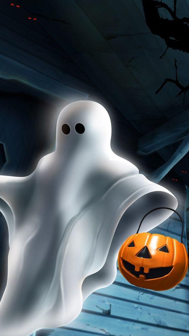 Halloween ghost iPhone 5s Wallpaper Click http//www