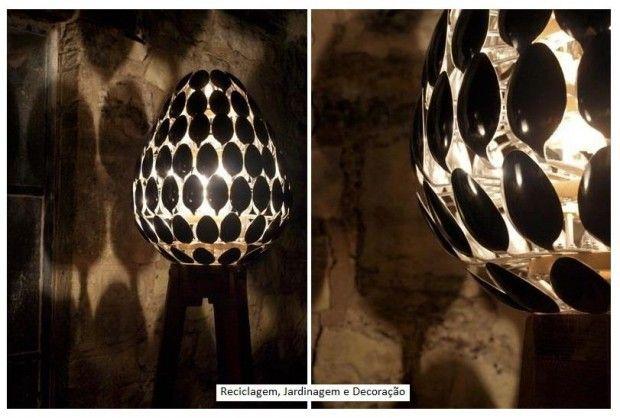 lampadari con cucchiai