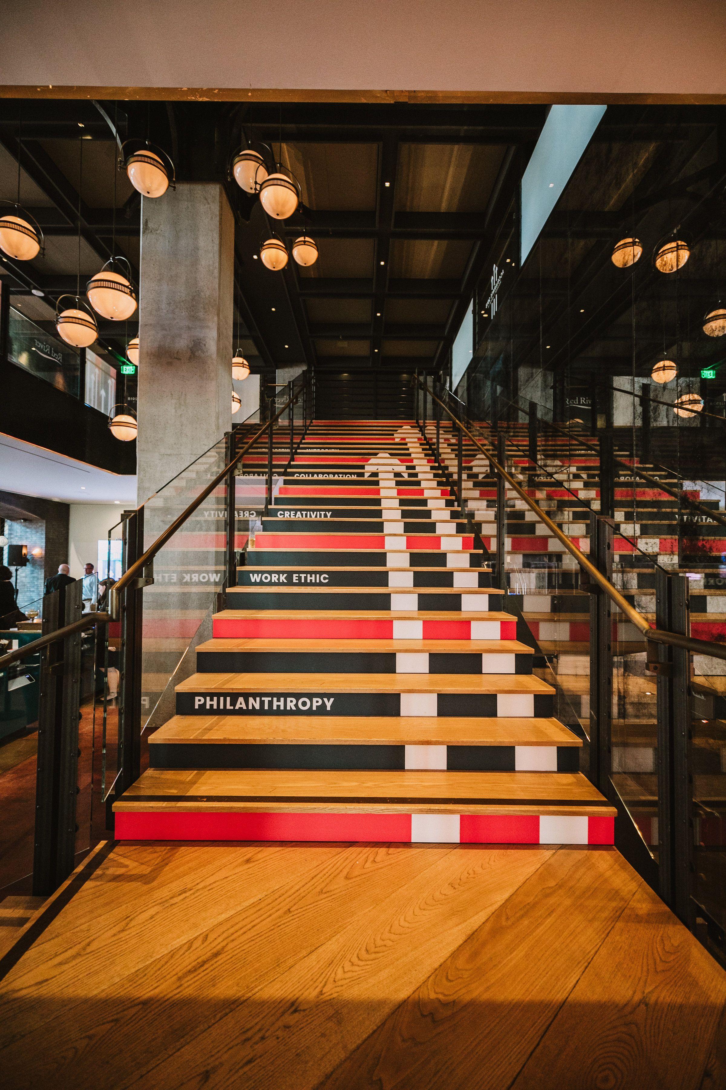 Stair Branding   Creative event, Branding, Event experience