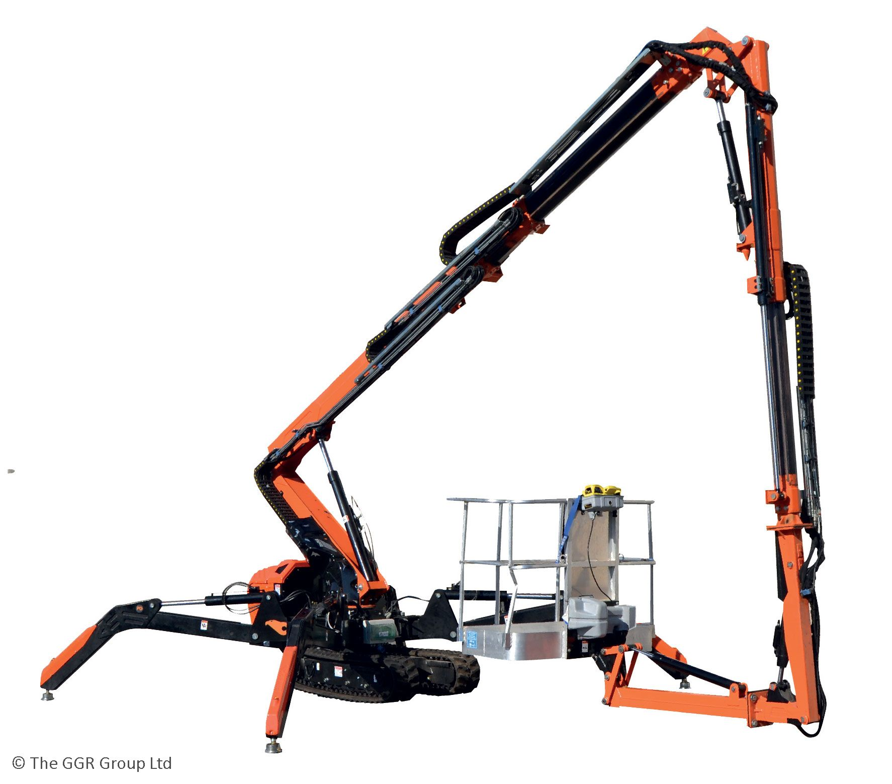 Cormidi KB19-4 as an under-bridge access platform with 4 metres of downreach, they only machines of its kind to have a reverse basket function for under-bridge work.