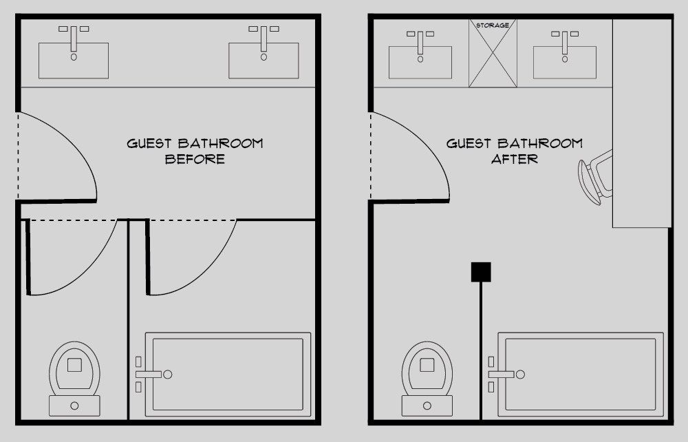 Our Guest Bathroom Design Plan Before Images Room For Tuesday